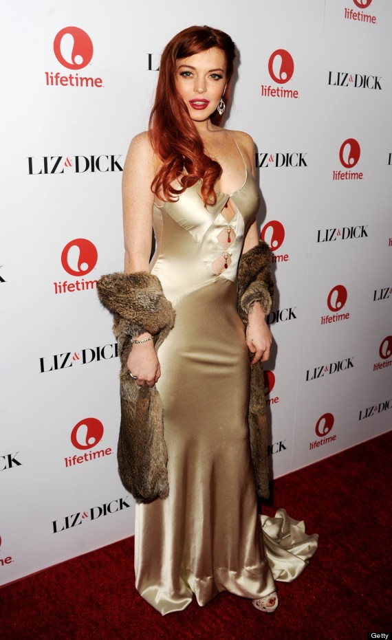 Lindsay-Lohan-Red Carpet